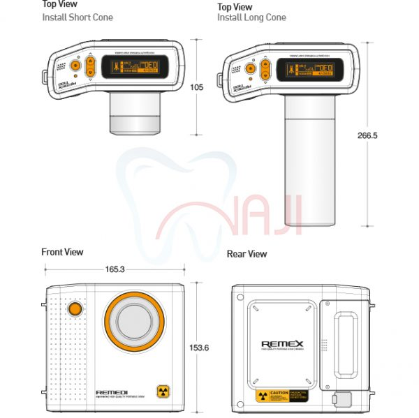 رادیوگرافی پرتابل Remedi مدل REMEX-T100